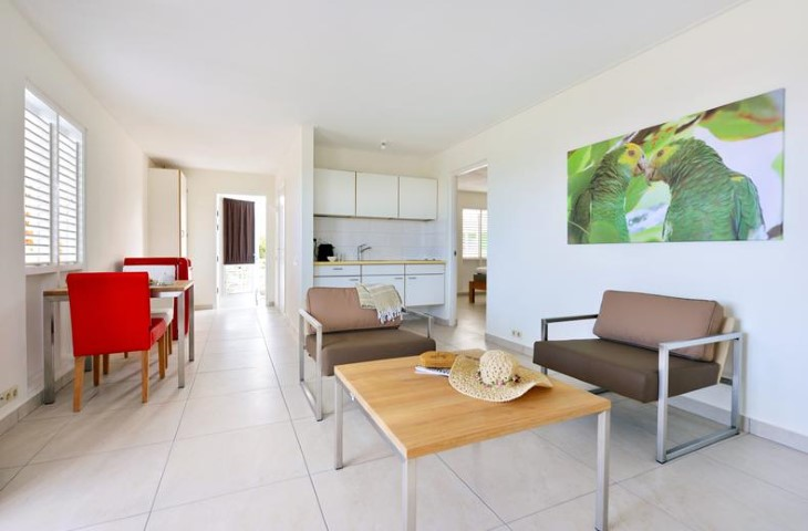 Chogogo dive beach resort vakantie cura ao bij abc travel - Gemeubileerde woonkamer ...