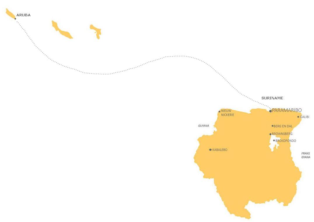 Combinatie Suriname en Aruba GOED