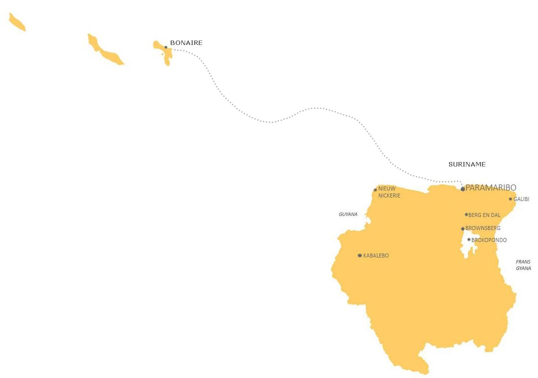 Combinatie Suriname en Bonaire GOED
